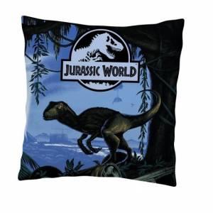 Universal Jurassic Park kussen 35 x 35 cm zwart/blauw