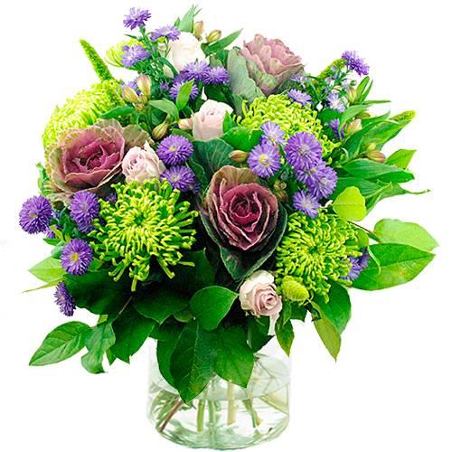 Najaarsboeket in lila tinten