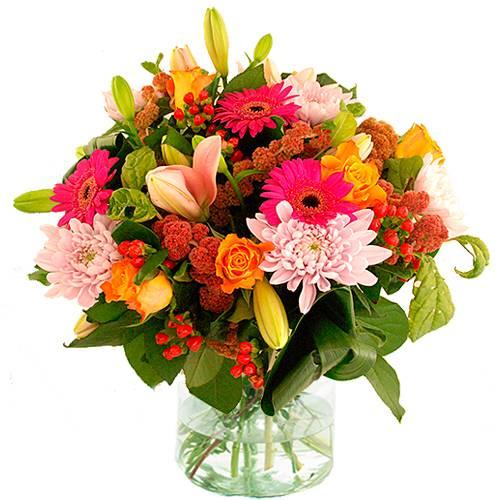 Najaarsboeket oranje roze