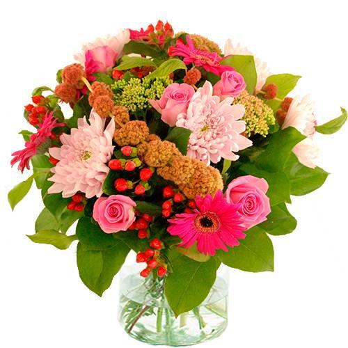 Najaarsboeket roze