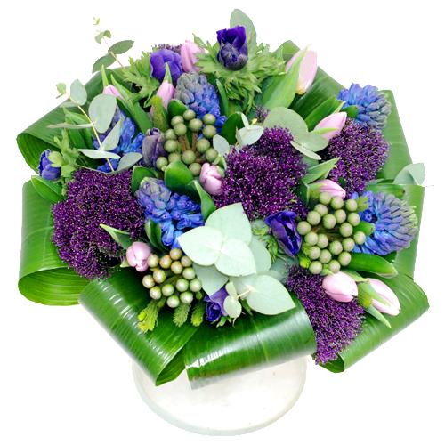 Voorjaarsboeket blauw paars