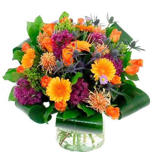 Boeket oranje - paars