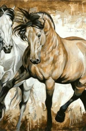 HORKA wenskaart Elise paard wit bruin 12