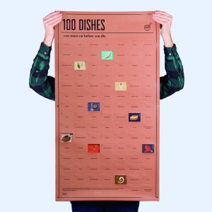 Hét perfecte Cadeau -  Poster 100 Dishes You Must Eat Before You Die