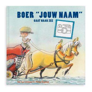 Hét perfecte Cadeau -  Boek met naam en foto – Boer Boris gaat naar zee – Softcover