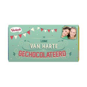 Hét perfecte Cadeau -  Verkade chocoladereep bedrukken – Van harte (Melk)