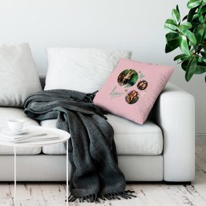 Hét perfecte Cadeau -  Liefdeskussen bedrukken – Roze – 50x60cm