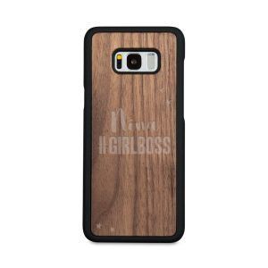 Hét perfecte Cadeau -  Houten telefoonhoesje graveren – Samsung Galaxy s8 plus