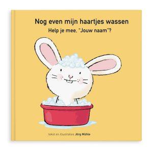 Hét perfecte Cadeau -  Boek met naam en foto – Nog even mijn haartjes wassen – Hardcover