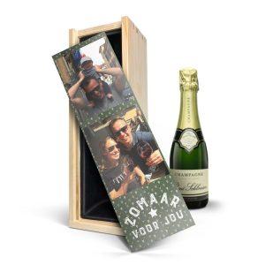Hét perfecte Cadeau -  Champagne in bedrukte kist – René Schloesser (375ml)
