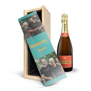 Hét perfecte Cadeau -  Champagne in bedrukte kist – Piper Heidsieck Brut (750ml)