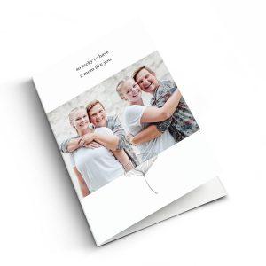 Hét perfecte Cadeau -  Moederdag kaart met foto – M – Staand