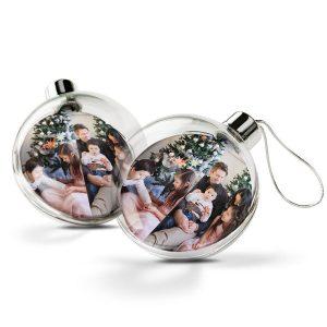 Hét perfecte Cadeau -  Transparante kerstbal bedrukken (2 stuks)