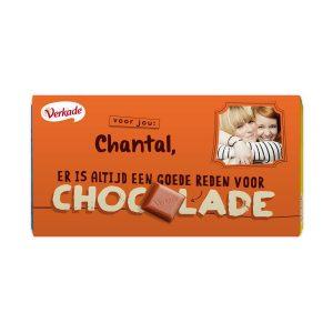 Hét perfecte Cadeau -  Verkade chocoladereep bedrukken – Zomaar (Puur)