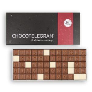 Hét perfecte Cadeau -  Chocotelegram met persoonlijke boodschap – 60 letters
