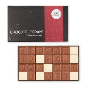 Hét perfecte Cadeau -  Chocotelegram met persoonlijke boodschap – 28 letters