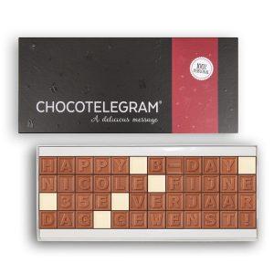 Hét perfecte Cadeau -  Chocotelegram met persoonlijke boodschap – 48 letters