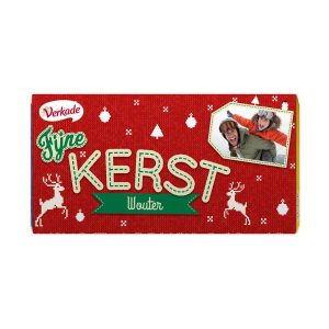 Hét perfecte Cadeau -  Verkade chocoladereep bedrukken – Kerst (Hazelnoot)