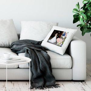 Hét perfecte Cadeau -  Liefdeskussen bedrukken – Wit – 50x60cm
