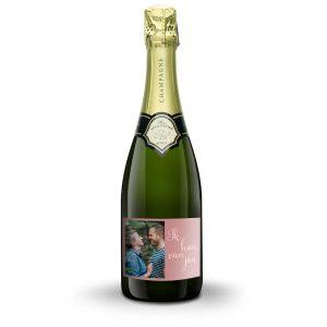 Hét perfecte Cadeau -  Champagne met bedrukt etiket – René Schloesser (750ml)