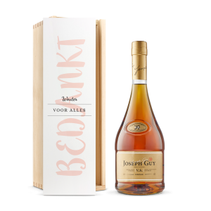 Hét perfecte Cadeau -  Cognac in bedrukte kist – Joseph Guy