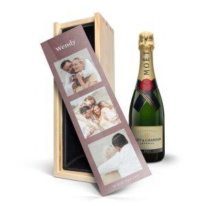 Hét perfecte Cadeau -  Champagne in bedrukte kist – Moët & Chandon (750ml)