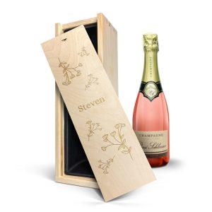 Hét perfecte Cadeau -  Champagne in gegraveerde kist – René Schloesser rosé (750ml)