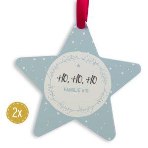 Hét perfecte Cadeau -  Aluminium kersthanger bedrukken – Ster (2 stuks)