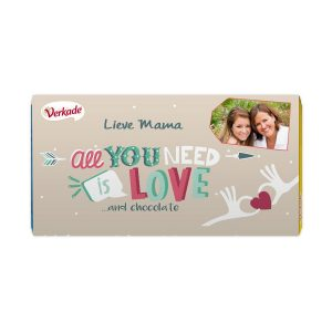 Hét perfecte Cadeau -  Verkade chocoladereep bedrukken – All you need (Puur)