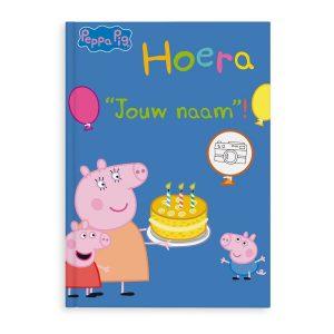Hét perfecte Cadeau -  Boek met naam en foto – Peppa Pig – Hoera! – Softcover