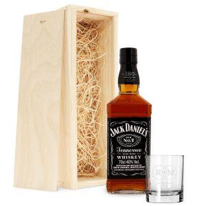 Hét perfecte Cadeau -  Jack Daniels whiskeypakket met gegraveerd glas