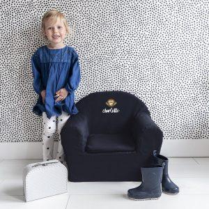 Hét perfecte Cadeau -  Kinderfauteuil met naam bedrukken – Blauw