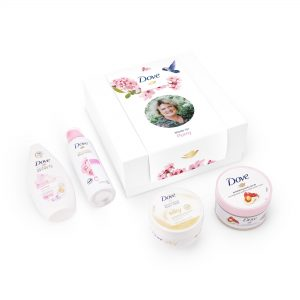 Hét perfecte Cadeau -  Dove geschenkset personaliseren – Pampering Rosie