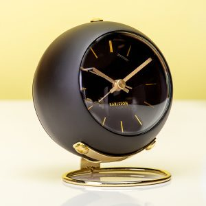 Hét perfecte Cadeau -  Globe Wekker – Zwart