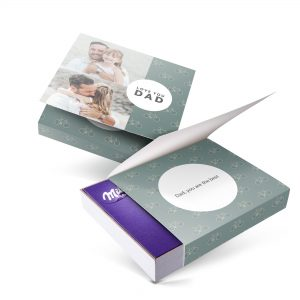 Hét perfecte Cadeau -  Milka giftbox bedrukken – Vaderdag – 220 gram