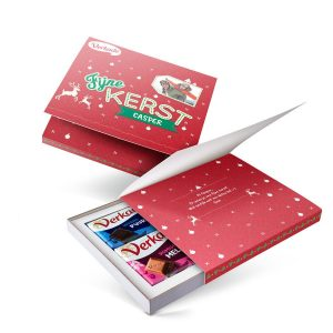 Hét perfecte Cadeau -  Verkade giftbox bedrukken – Kerst (2 repen)