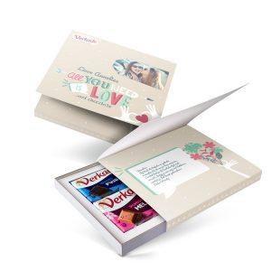 Hét perfecte Cadeau -  Verkade giftbox bedrukken – All you need is love (2 repen)