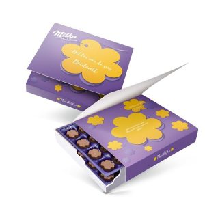 Hét perfecte Cadeau -  Say it with Milka giftbox bedrukken – Bedankt – 220 gram