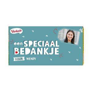 Hét perfecte Cadeau -  Verkade chocoladereep bedrukken – Bedankje (Hazelnoot)