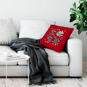 Hét perfecte Cadeau -  Liefdeskussen bedrukken – Rood – 50x60cm