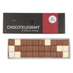 Hét perfecte Cadeau -  Chocotelegram met persoonlijke boodschap – 30 letters