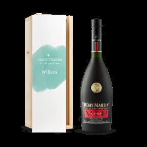 Hét perfecte Cadeau -  Cognac in bedrukte kist – Rémy Martin VSOP