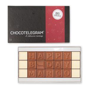 Hét perfecte Cadeau -  Chocotelegram met persoonlijke boodschap – 21 letters