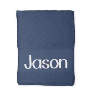 Hét perfecte Cadeau -  Handdoek borduren – Navy