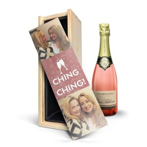 Hét perfecte Cadeau -  Champagne in bedrukte kist – René Schloesser rosé (750ml)